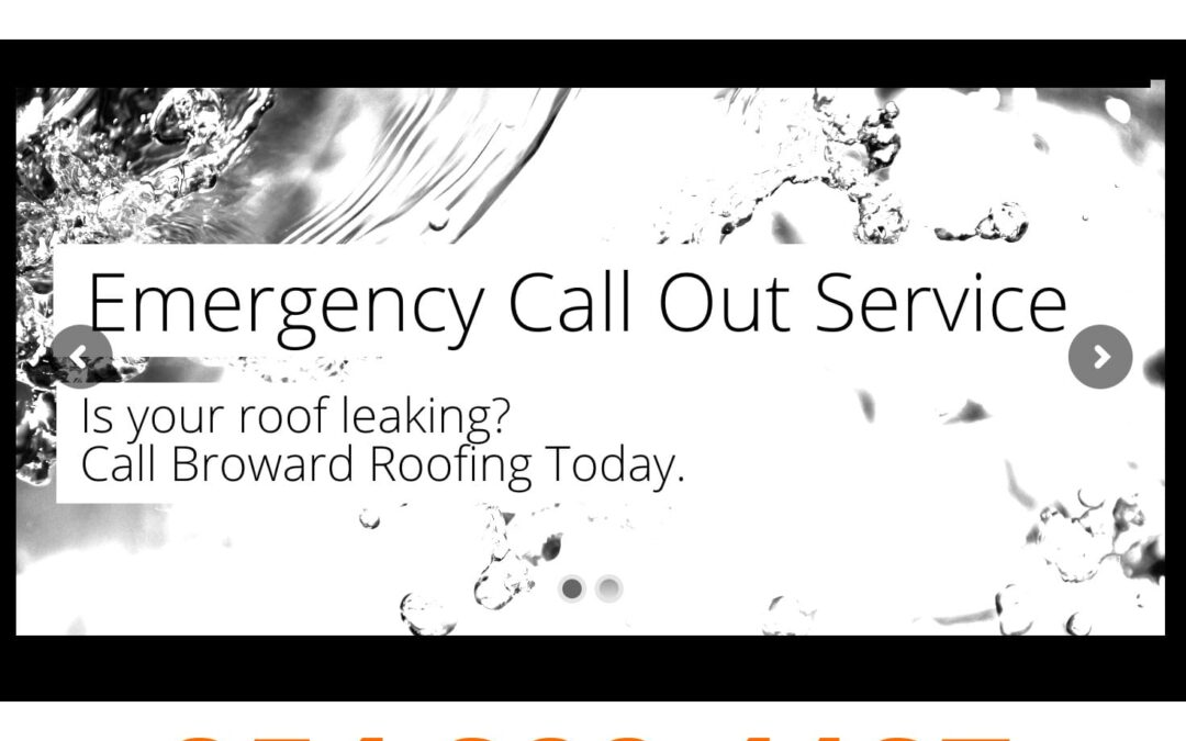 Leaky Roof: Call Broward-Roofing